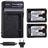 PowerTrust 2-Pack 1780mAh BN-VG114 Battery + Fast Charger Kits for JVC BN-VG107 BN-VG107U BN-VG108U BN-VG108E BN-VG114U BN-VG121U BN-VG138U BN-VG138 Camcorder Batteries