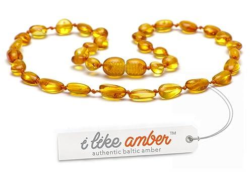 Collana d ambra DI QUALITÀ SUPERIORE -Super sicuro - La migliore qualità di  ambra baltica su Amazon ... bd3ada0605f