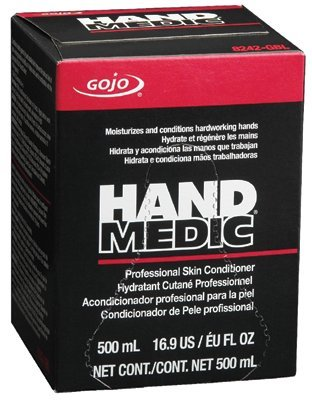 GOJO Industries 8242-06 GOJO 500 ml Bag-in-Box Hand Medic Professional Skin Conditioner, Plastic, 1