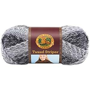 Lion Brand Yarn 753-200Y Tweed Stripes Yarn, Marble