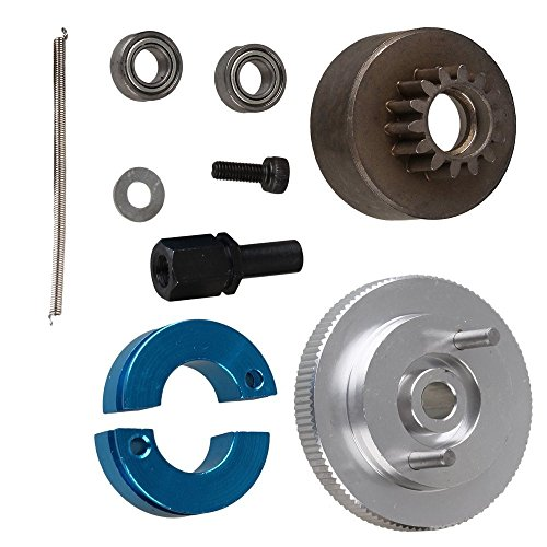 - Yiguo RC 1:10 Car Upgrade Parts Silver Aluminum Alloy 14T Clutch Flywheel Set T10096