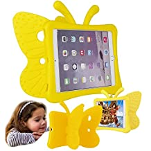 Eastchina® Non-toxic 3D Cartoon Light Weight EVA Shockproof Drop Proof Stand Case For iPad Air | iPad Air2 | iPad Pro 9.7 (iPad 5/6/Pro 9.7, Yellow)