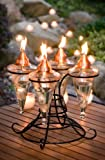 H Potter Outdoor Patio Torch Table Top for Deck