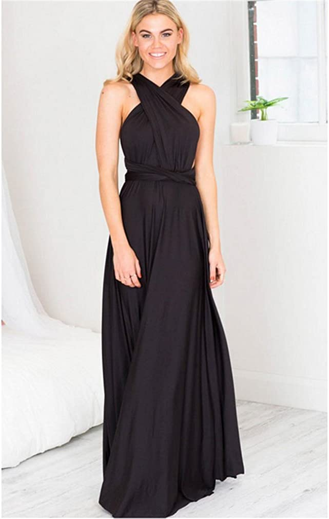 YHX Womens Multi Way Wrap Convertible Infinity Long Maxi Dress