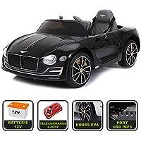 cristom Voiture de Sport électrique 12V pour Enfant Bentley EXP12 (Noir)
