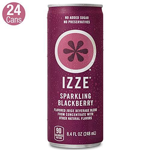IZZE Sparkling Juice, Blackberry, 8.4 Fl Oz (24 Count) (For Blackberry Juice Wine)