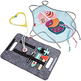 Fisher-Price Patient and Doctor Kit - 9-Piece Medical Pretend Play Gift Set Featuring Real Wood for Preschoolers Ages 3 Years & Up
