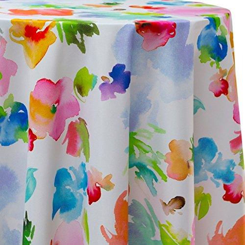 Ultimate Textile Sofia Floral Petals 60 x 84-Inch Oval Tablecloth