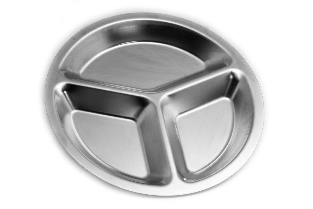MIRACOR Bandeja autoservicio Acero Inoxidable 3 Compartimentos: Amazon.es: Hogar
