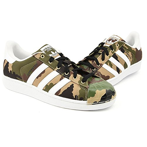 Adidas Originals Mænds Superstjerne Shell Tå Camo Sko S75183,8.5