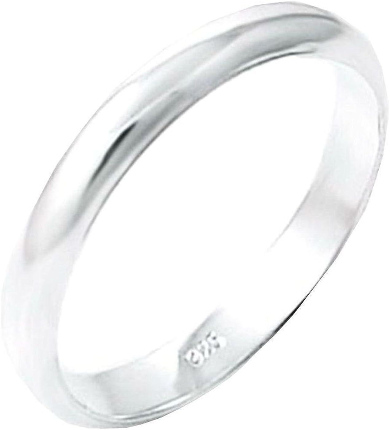 Wedding Band 2 mm wide Solid .925 Silver ring designer