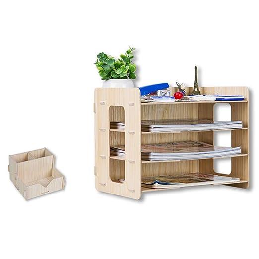 Organizador de escritorio, mrke 4 capas DIY Organizador de mesa en ...