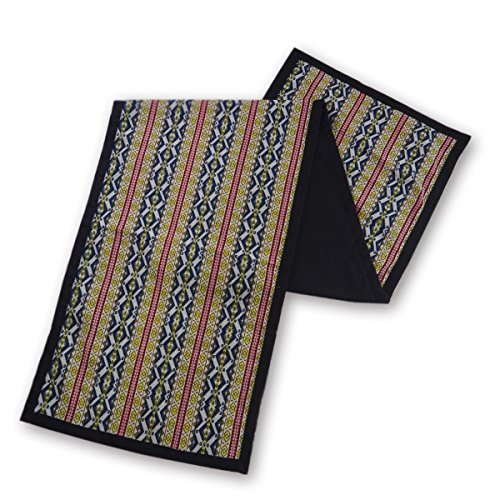 tamarind-bay-luxury-table-runner-with-black-border-and-back-tessella
