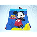 Blue Mickey Mouse Drawstring Backpack Disney Licensed Sling Tote Kid Gym Bag NEW- show original title