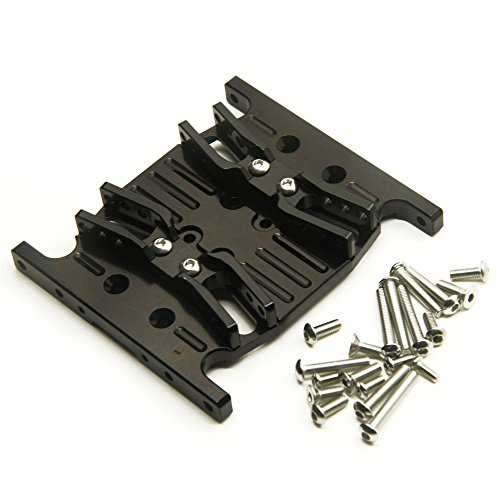RC Crawler Parts CNC Machined Aluminum Speed Center Skid Plate for 1/10 RC Axial SCX10 ()