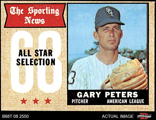 1968 Topps # 379 All-Star Gary Peters Chicago White Sox (Baseball Card) Dean's Cards 4 - VG/EX White Sox