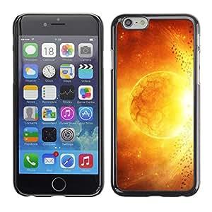 Qstar Arte & diseño plástico duro Fundas Cover Cubre Hard Case Cover para Apple (5.5 inches !!!) iPhone 6 Plus ( Sun Star Magma Fire Art Yellow Red Apocalypse)
