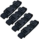 Backpack Accessory [4 packs] Strap Luggage Strap Cover Strap Long Lash Strap Sleeping Bag Strap Mattress Strap with Quick Release Buckle Tied Band Fixed Belt