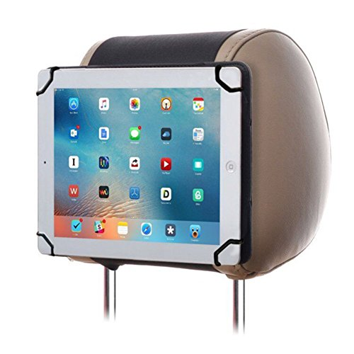 9-10 Inch Universal Car iPad Holder Mount, RUISIKIOU Portable iPad Holder Back Seat Holder Case in Car for iPad/ iPad2/ iPad3/ iPad4/ iPad air/ iPad air 2/ Kindle Fire All-New Fire HD 10 Color Black