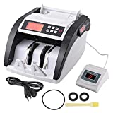 Yescom Money Bill Counter Cash Multi-Currency Counting Machine Dual Display UV MG Counterfeit Detector