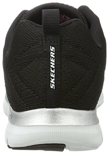 Skechers Flex Appeal 2.0 Break Free - Zapatillas de deporte para mujer Negro(Bkw Noir/Blanc)
