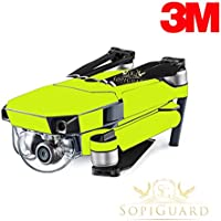 SopiGuard 3M Neon Yellow Precision Edge-to-Edge Coverage Vinyl Skin Controller Battery Wrap for DJI Mavic Pro