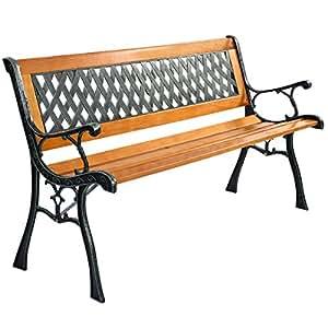 Amazon Com Giantex 50 Patio Park Garden Bench Weather