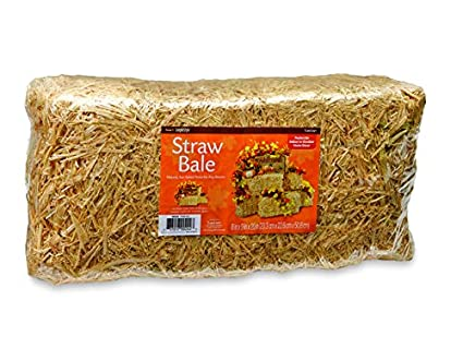 Amazoncom Floracraft Decorative Straw Bale 8 Inch X 9 Inch X 20