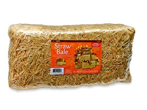 (FloraCraft Decorative Straw Bale 8 Inch x 9 Inch x 20 Inch Natural)