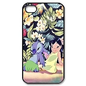 IPhone 4/4s Case Disney,stitch, Bloomingbluerose, [Black]