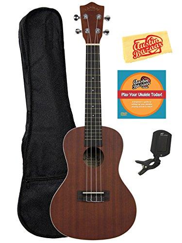 lanikai-lu-21c-concert-ukulele-bundle-with-gig-bag-clip-on-tuner-austin-bazaar-instructional-dvd-and