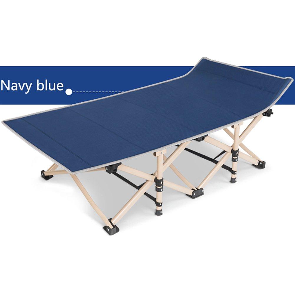 Camping-Stühle WSSF- Hochleistungsstahlrohr-faltendes kampierendes Bett-Büro-Mittagspause-Siesta-Bett-Einzelne Aufenthaltsraum-Stuhl-Lager-Reise-Bett im Freien - tragendes 200kg