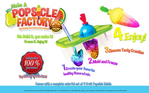Best Do It Yourself Fruit Popsicle Molds Loved By All Kids - Popsicle Makers Lollipop Candy Chocolate Mold Ice Cream Pops Sticks. Make a Popsicle Factory. (Chocolate Factory Maker compare prices)