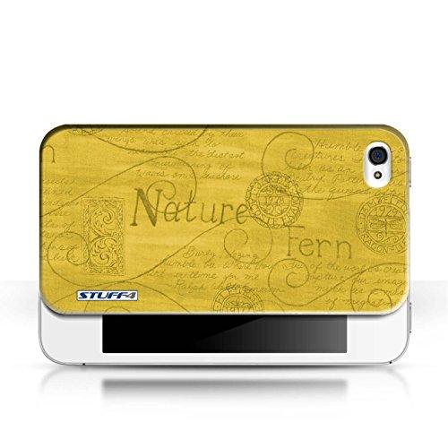 Etui / Coque pour Apple iPhone 4/4S / Jaune conception / Collection de Motif Nature