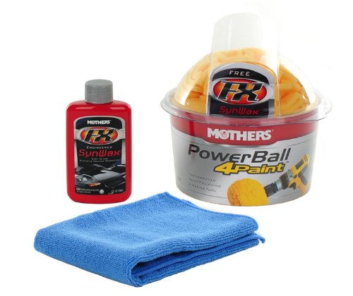 Mothers Power Ball 4 Paint With Bonus Microfiber Towel And 4oz. Bottle of Mothers Fx Synwax