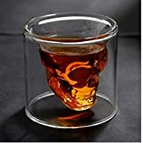 Temall Crystal Skull Pirate Shot Glass Drink Cocktail Beer Cup 2.5 Ounces X1