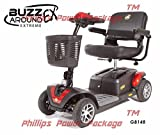 Golden Technologies - Buzzaround EX - Travel Scooter - 4-Wheel - Red - PHILLIPS POWER PACKAGE TM - TO $500 VALUE