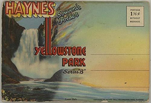 Haynes Yellowstone National Park - Series B - 1939 Curt Teich Souvenir Postcard Folder #D-3772