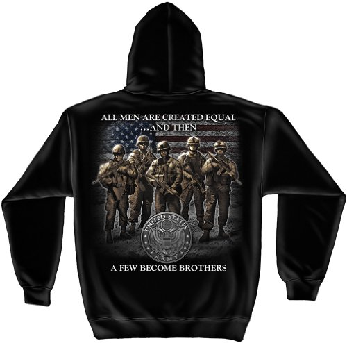 Armed Forces Hooded Sweatshirt, 100% Cotton Casual Men's Shirts, Show Your Pride with Our US Army Brotherhood Long Sleeve Sweatshirts for Men Or Women (X-Large)
