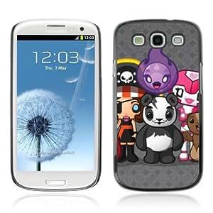 Lmf DIY phone case [Funny Cute Creatures Panda] Samsung Galaxy S3 CaseLmf DIY phone case
