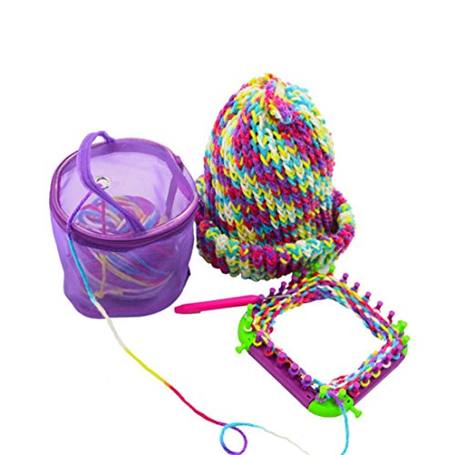 Cinhent Home 1PC New Mesh Bag Lightweight Portable Yarn Crochet Thread Storage Box Organizer Tote,Women Handcraft Art Favorite Collection 14×13×13 CM (Purple)