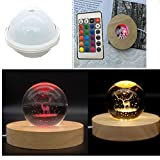 Amldoreat Sphere Light Resin Mold, Adjustable Color and Brightness Level Dimmable LED Silicone Molds for Resin,Resin Molds Silicone with Wooden Lighted Base Stand for Resin Art