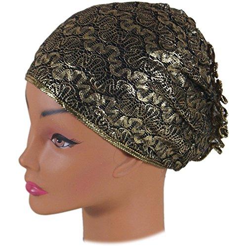 SSK Metallic Turban- Head Wrap