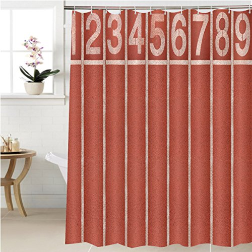 Gzhihine Shower curtain start and finish point of race track top view Bathroom Accessories 36 x 72 inches - 85 Textured Rust Finish