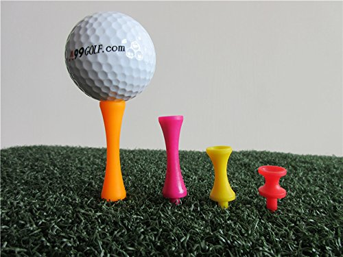 A99 Golf Step Tee III Castle Tees Step Down Tees 100pcs Mixed Color Mixed Size (4 Colors 4 Sizes) by A99 Golf (Image #3)