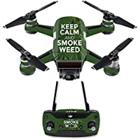 Skin for DJI Spark Mini Drone Combo - Smoke Weed| MightySkins Protective, Durable, and Unique Vinyl Decal wrap cover | Easy To Apply, Remove, and Change Styles | Made in the USA