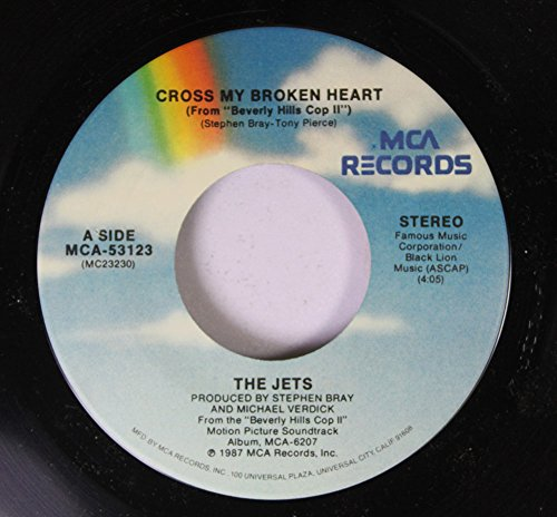 Records Hill Rpm 45 (The Jets 45 RPM Cross my Broken Heart / Bad Guys)