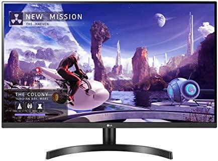 "LG 27QN600-B 27"" QHD (2560 x 1440) IPS Display with FreeSync, sRGB 99% Color Gamut, HDR10 with a 3-Side Virtually Borderless Design, Black"