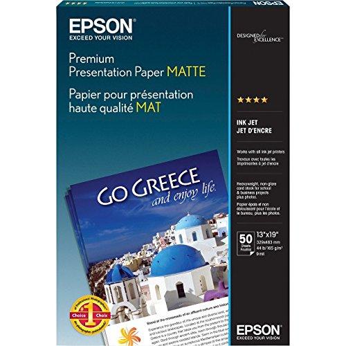 Epson Premium Presentation Paper MATTE (13x19 Inches, 50 Sheets) (S041263) (Matte Presentation)