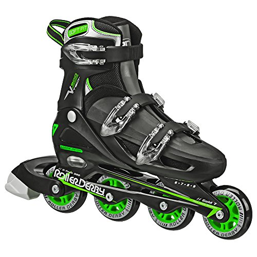 Roller Derby Boy's V-Tech 500 Button Adjustable Inline...